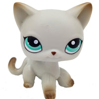 pet shop lps toys rare stands little short hair kitten pink #2291 grey #5 black #994 old original kitty  figure collection