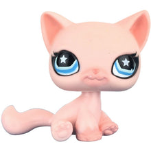 Load image into Gallery viewer, pet shop lps toys rare stands little short hair kitten pink #2291 grey #5 black #994 old original kitty  figure collection