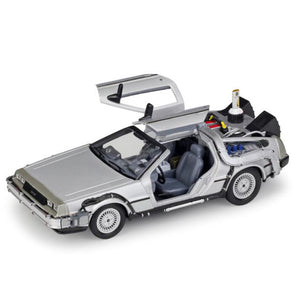 1/24 Scale Metal Alloy Car Diecast Model Part 1 2 3 Time Machine DeLorean DMC-12 Model Toy Back to the Future Fly version Part 2