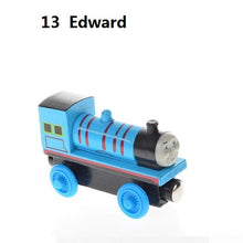 Load image into Gallery viewer, Wooden Magnetic Trains Toys Track Railway Vehicles Toys Wood Locomotive Cars for Children Kids Gift Trains Model