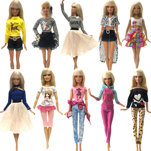 NK 2019 Newest Doll Dress Fashion Casual Wear Handmade Clothes  Outfits For Barbie Doll Accessories  Best DIY Toys For Doll  JJ