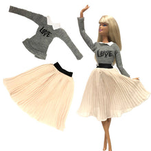 Load image into Gallery viewer, NK 2019 Newest Doll Dress Fashion Casual Wear Handmade Clothes  Outfits For Barbie Doll Accessories  Best DIY Toys For Doll  JJ