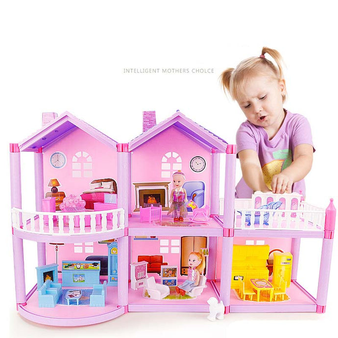 Handmade Dollhouse Castle DIY House Toy Miniature Dollhouse Birthday Gifts Educational Toys Doll Villa Girl DIY Toy