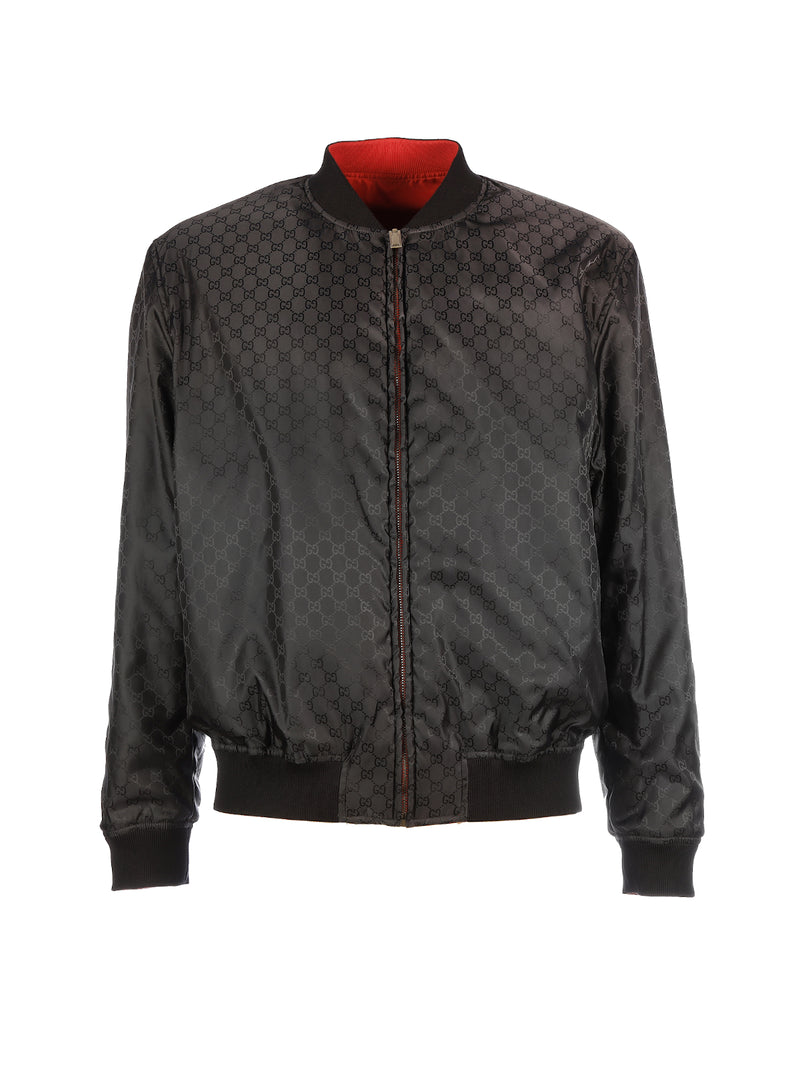 GG PATTERN REVERSIBLE BOMBER MONOGRAM