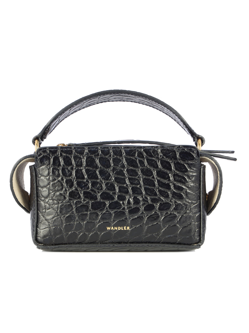 mini Yara croc-effect box tote