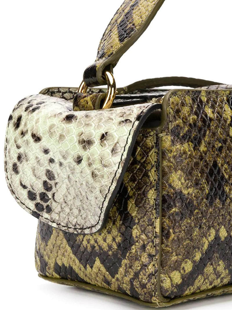 Yara Box snakeskin-effect tote bag
