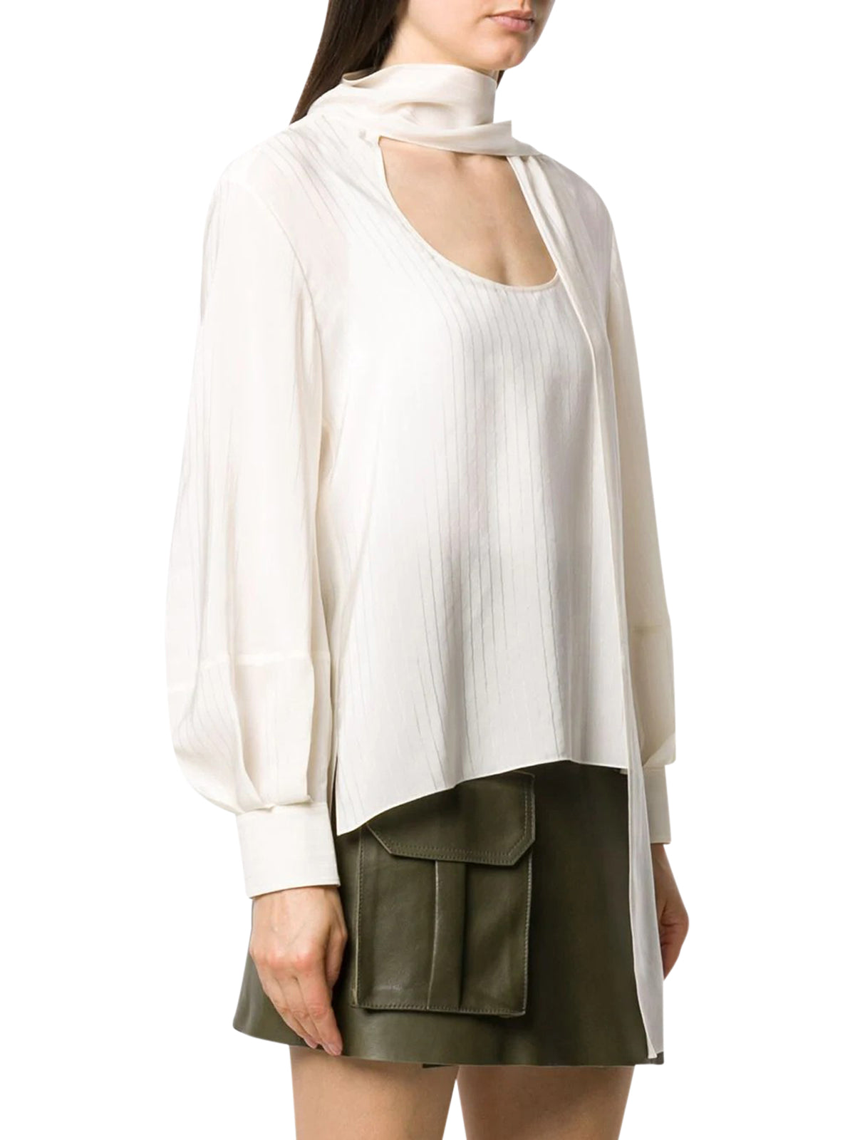 SCOOP-NECK BLOUSE