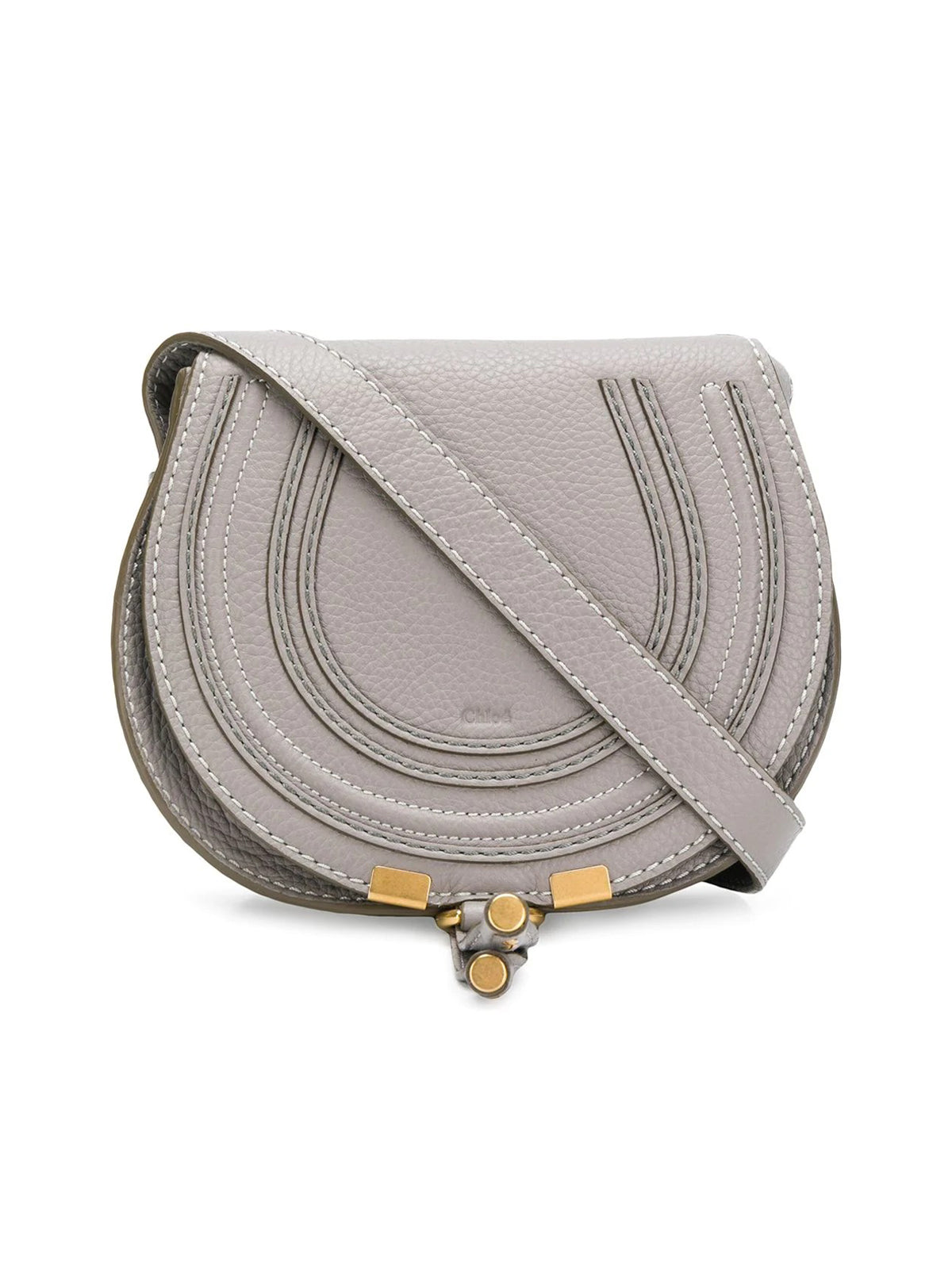 Chloé Marcie Shoulder Bag In Grey