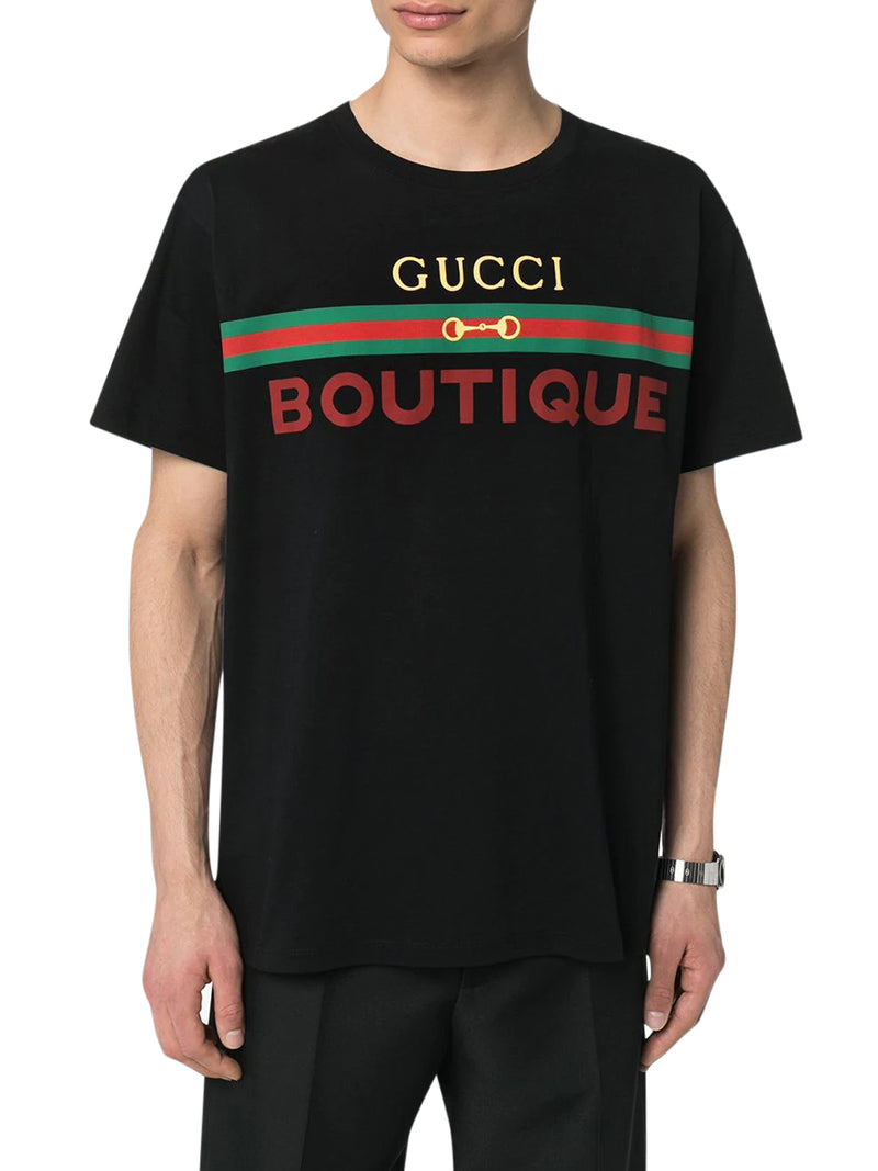 GUCCI BOUTIQUE LOGO PRINT T-SHIRT