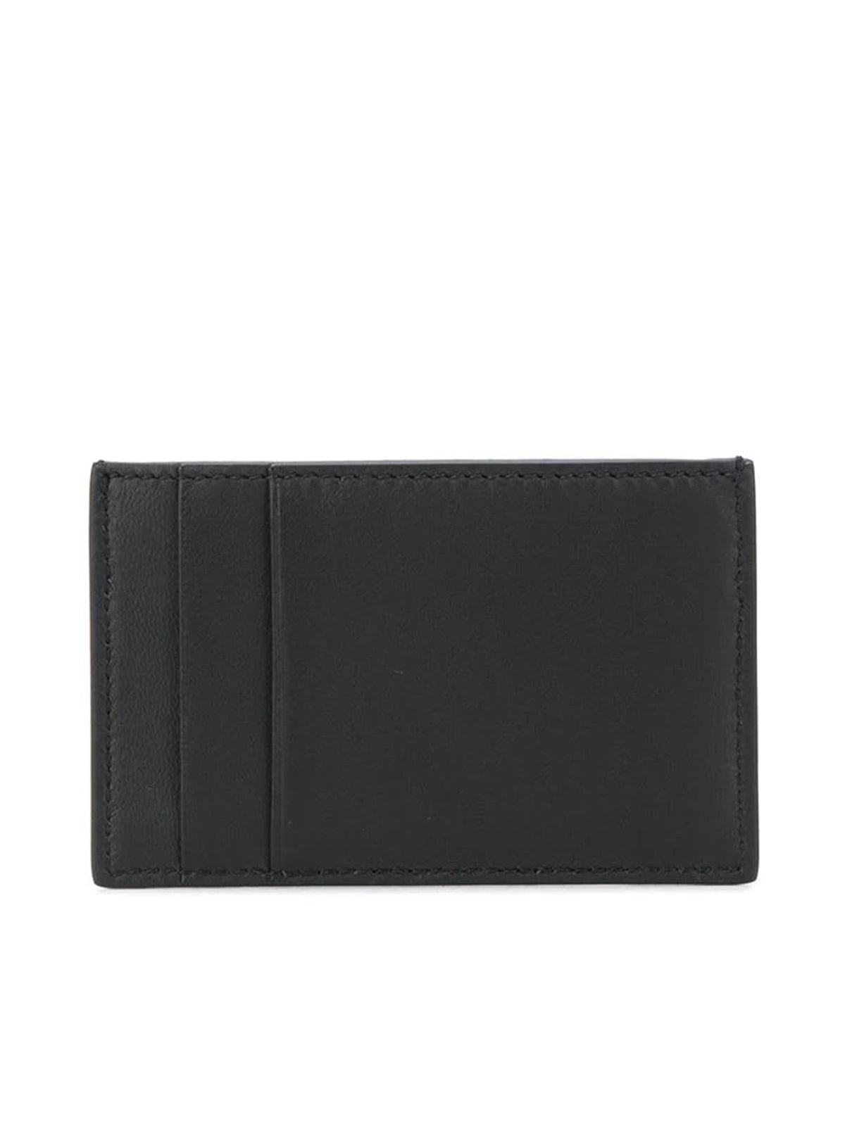 striped logo cardholder