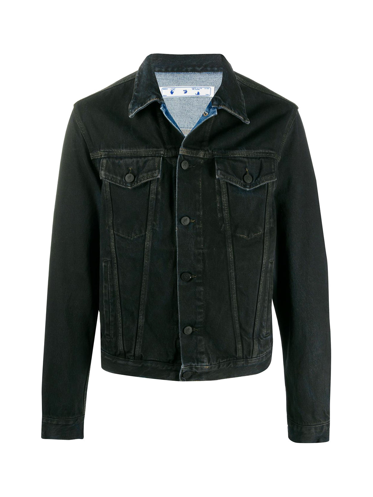 Arrows print denim jacket