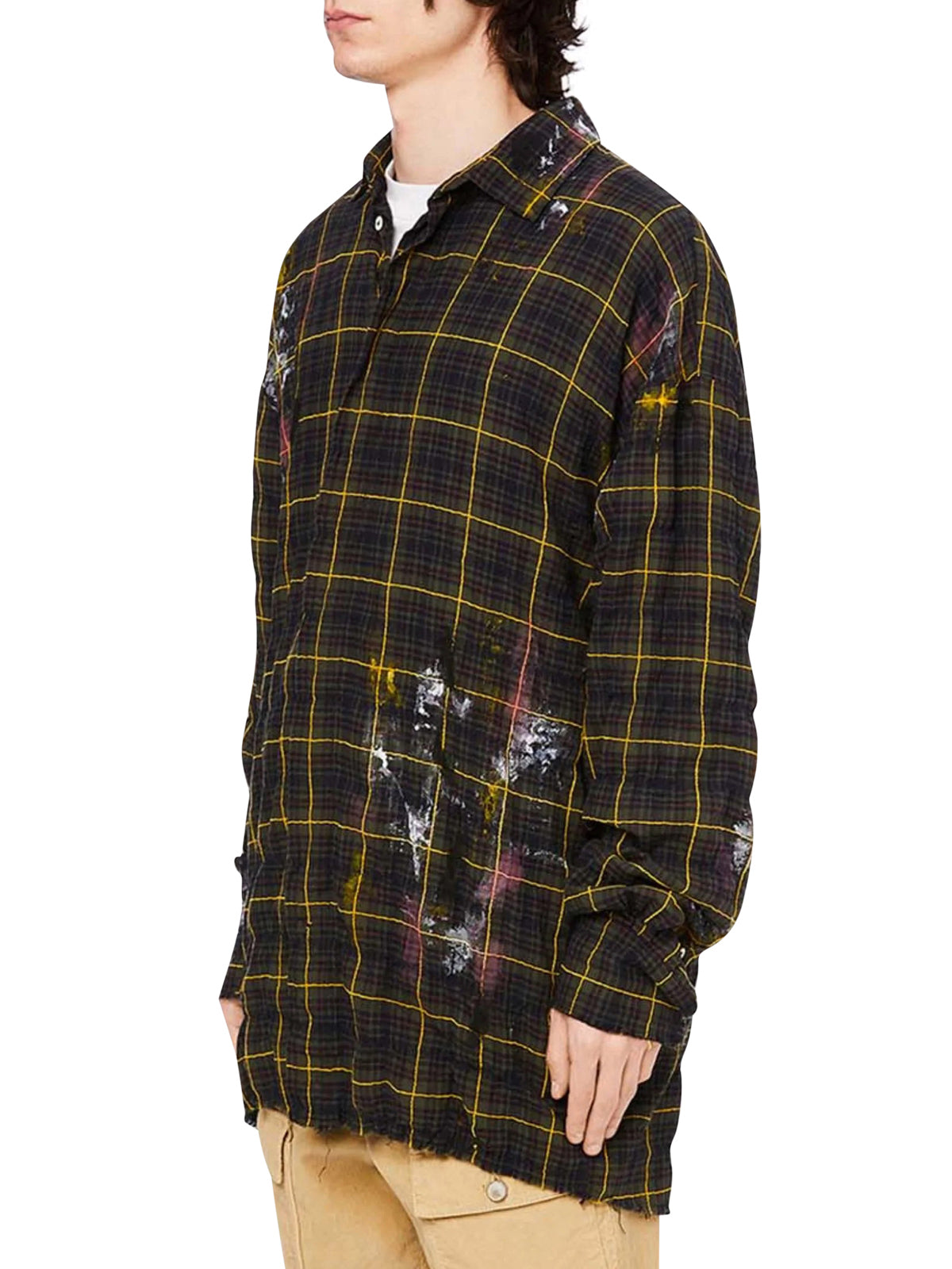 ROUND LOGO CHECK SHIRT