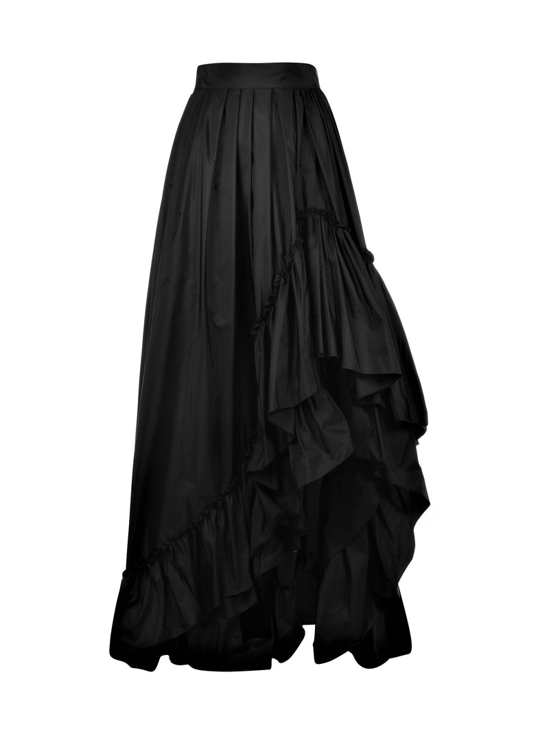 Long skirt with flounces