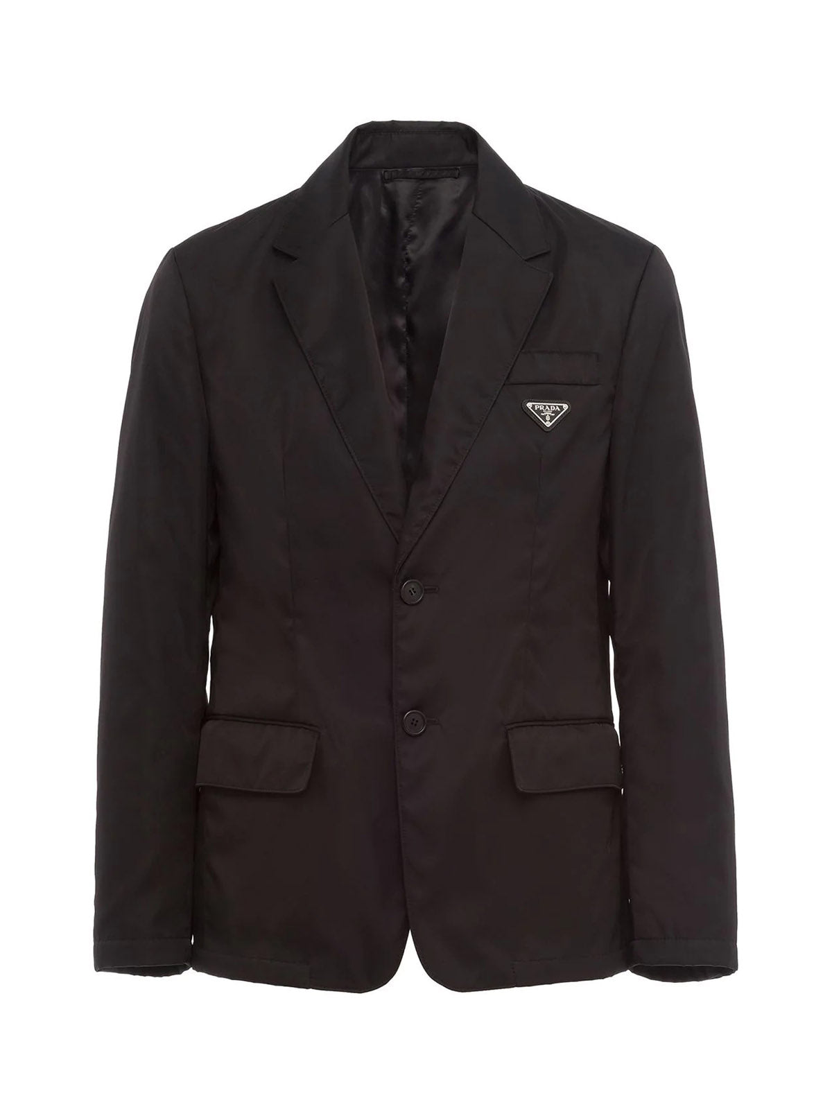 Single breasted blazer with application
