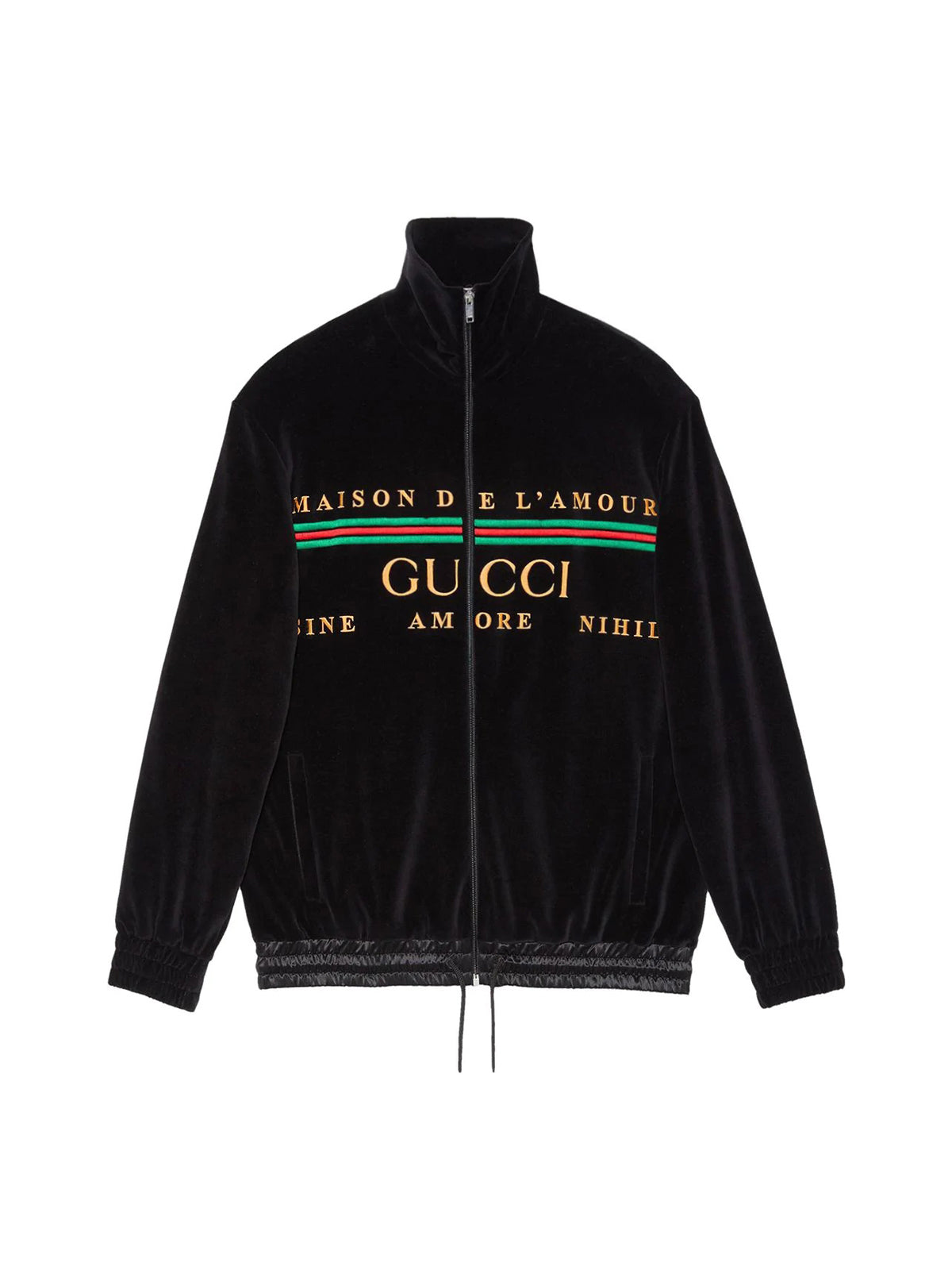 logo embroidered jacket