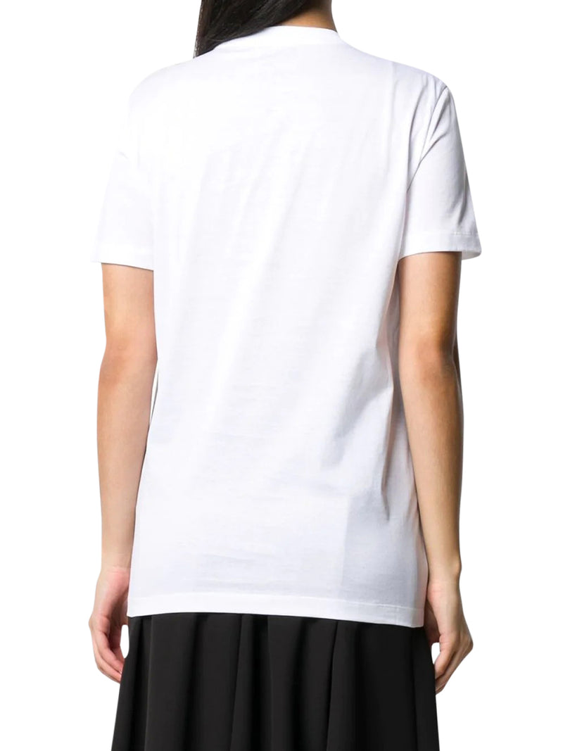 bow-embellished logo patch T-shirt