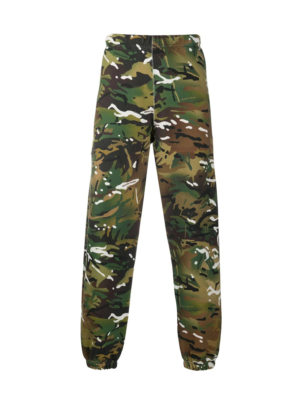 camouflage print track trousers