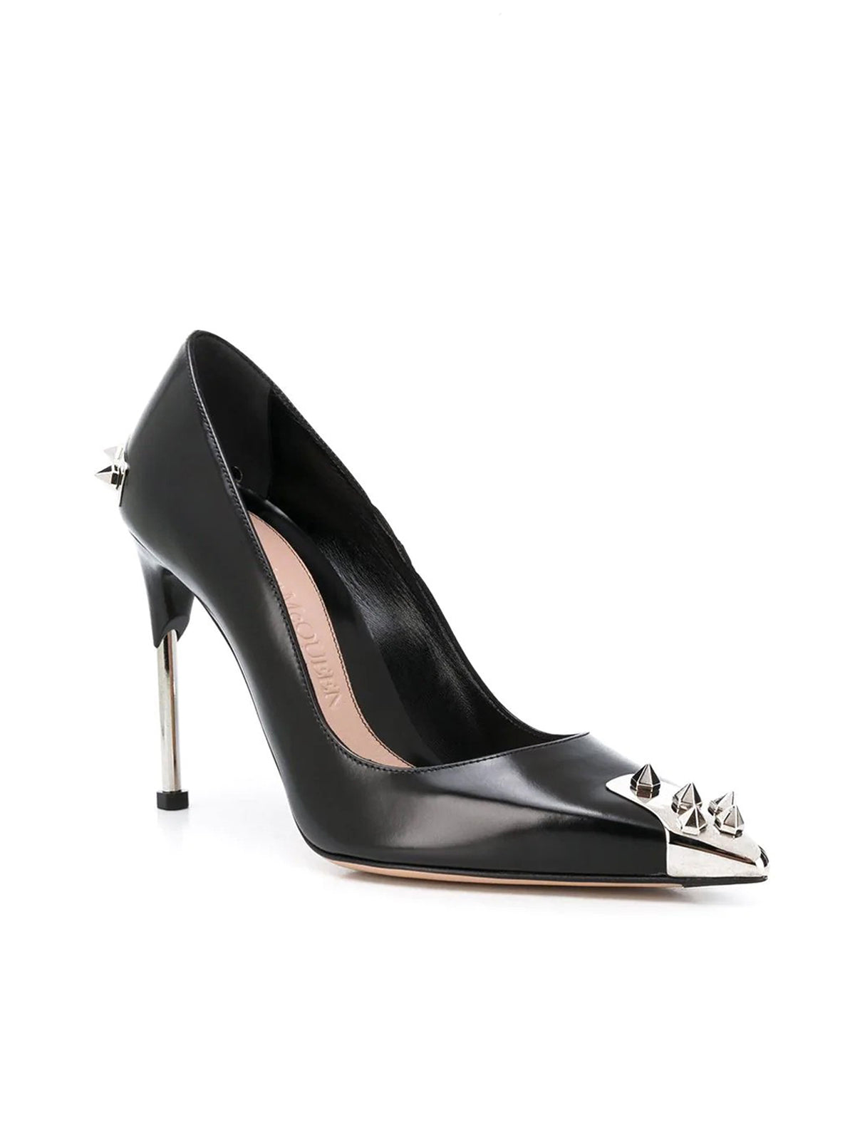 Punk Stud leather pumps