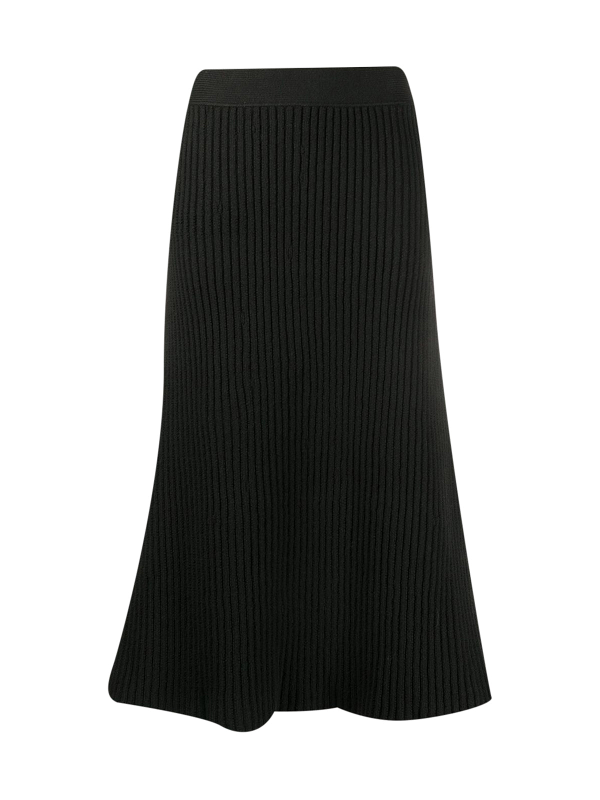 ribbed-knit midi skirt