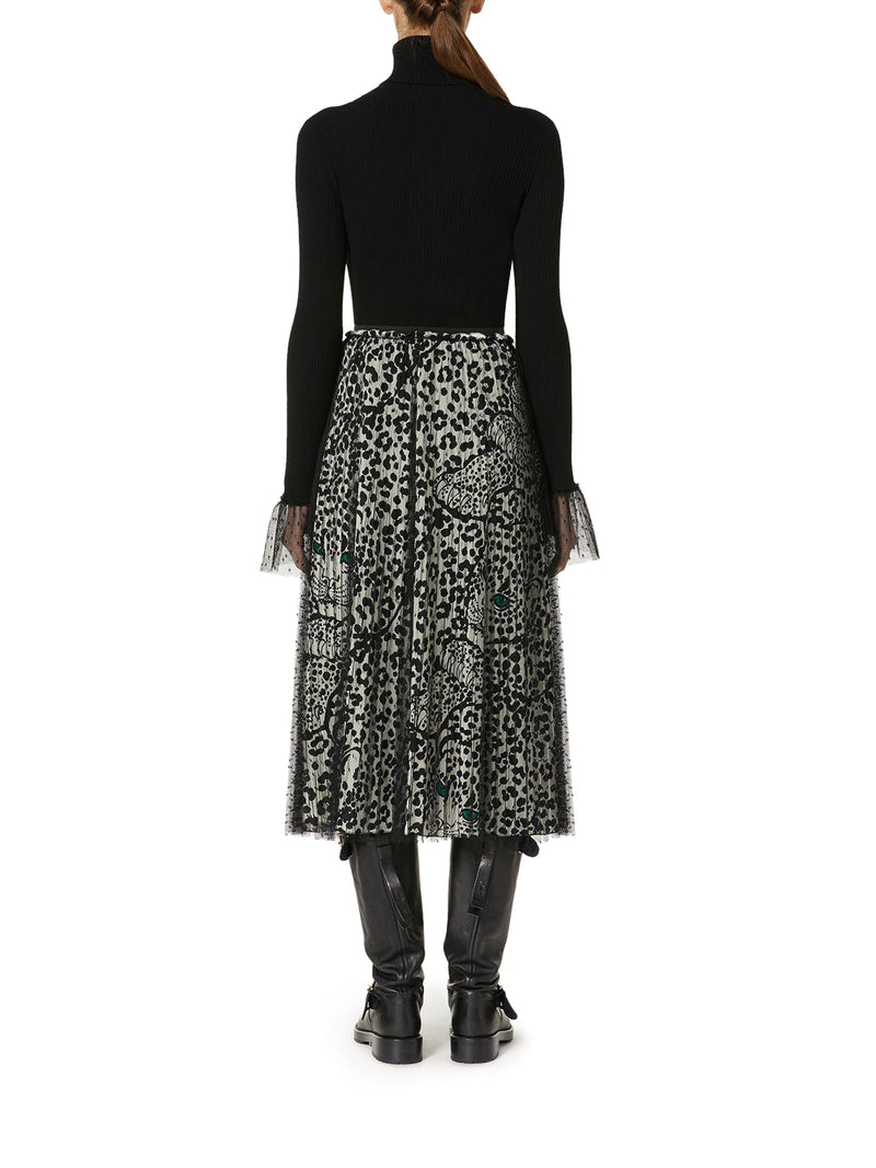 Leo Panther point d`esprit tulle skirt