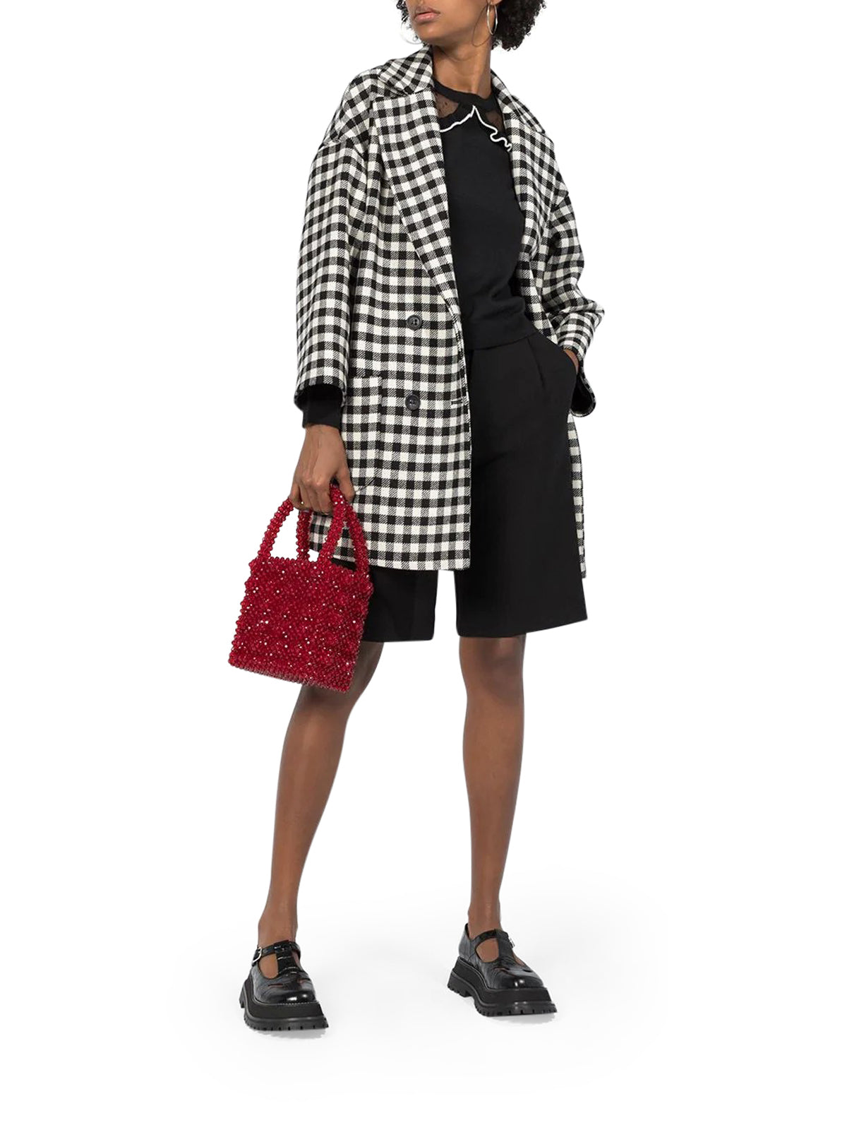 WOOL VICHY OVERSIZE COAT