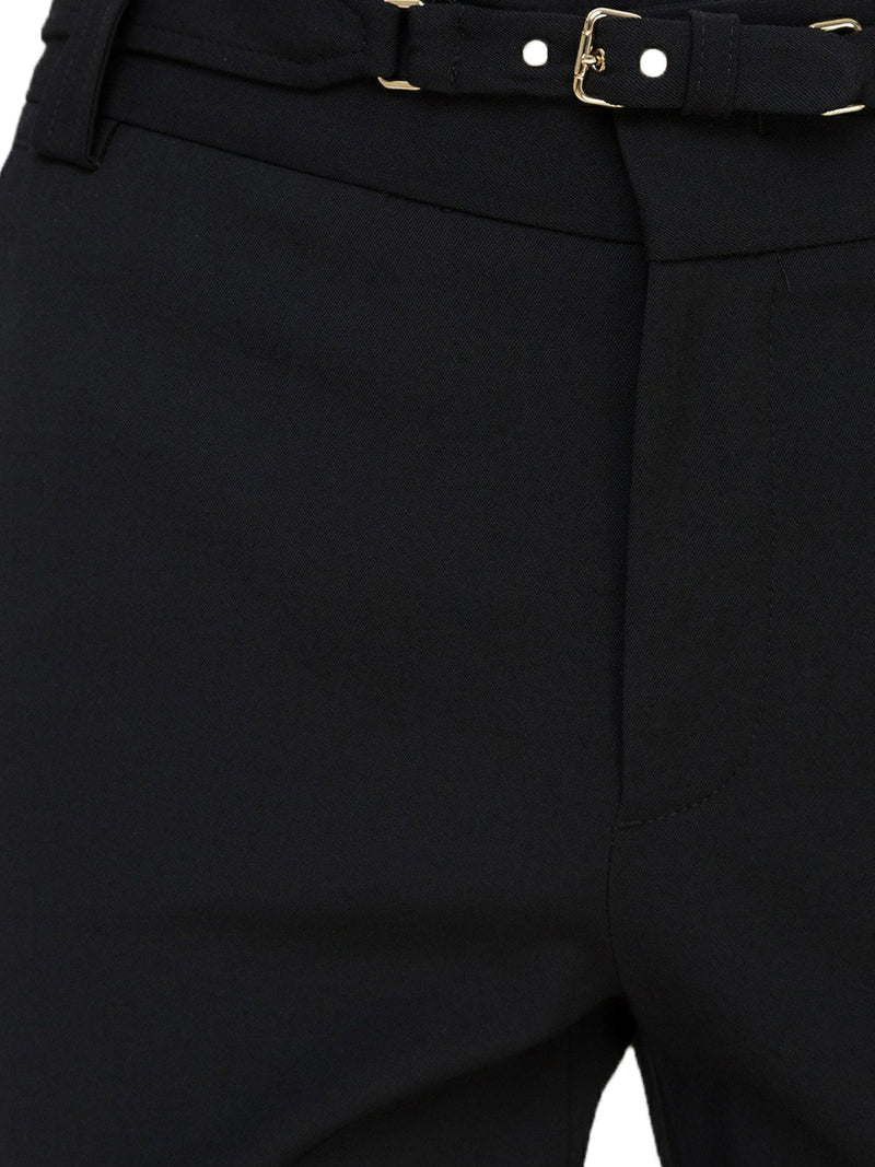 buckle-detail slim-fit trousers