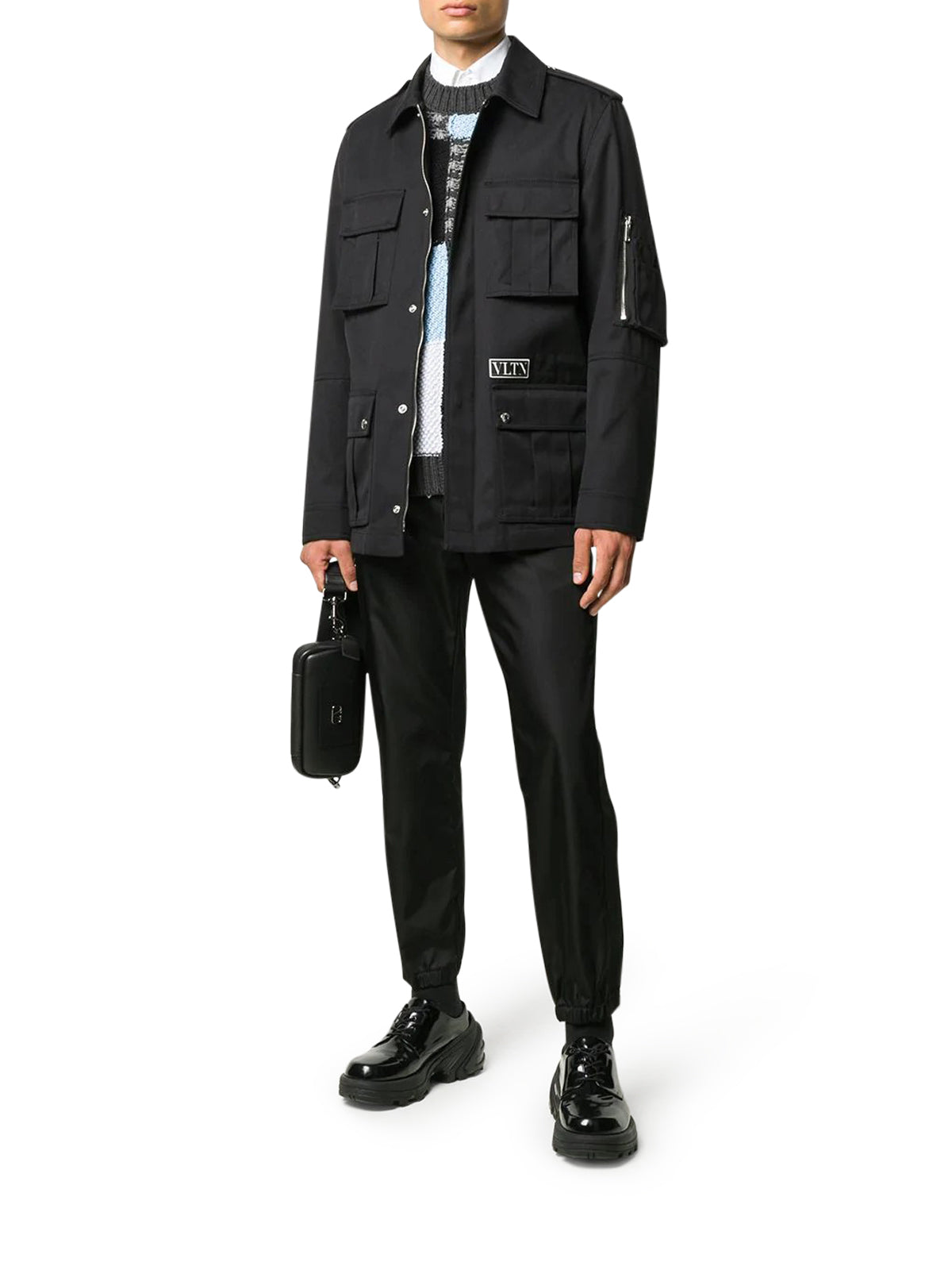 VLTN-patch shirt jacket