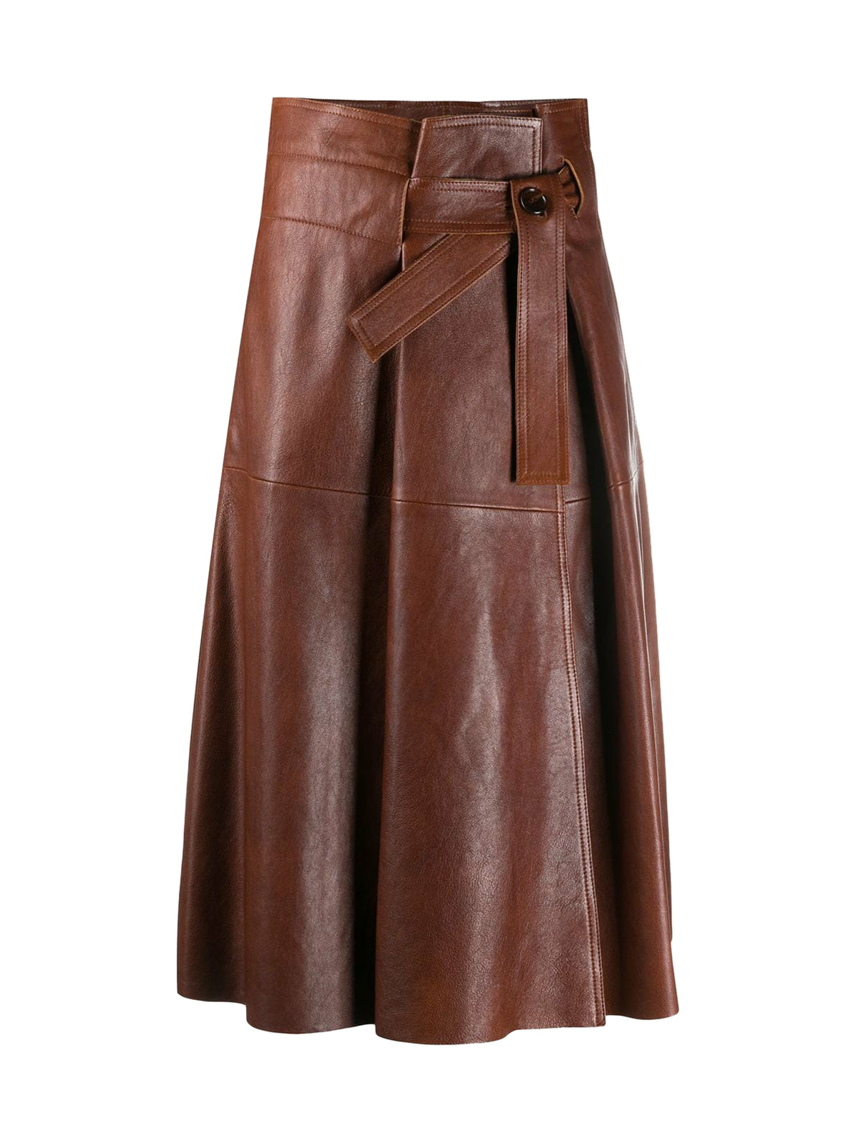 Flared skirt with belt