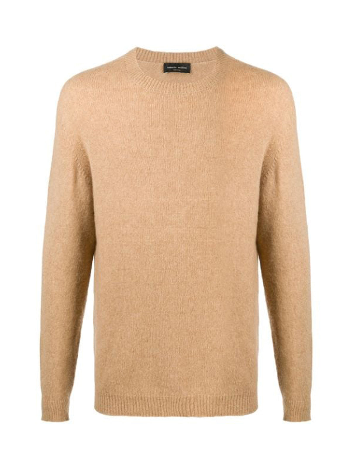 textured crew-neck jumper