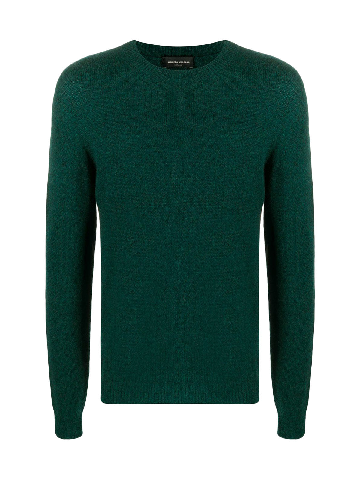 fine-knit crew neck jumper