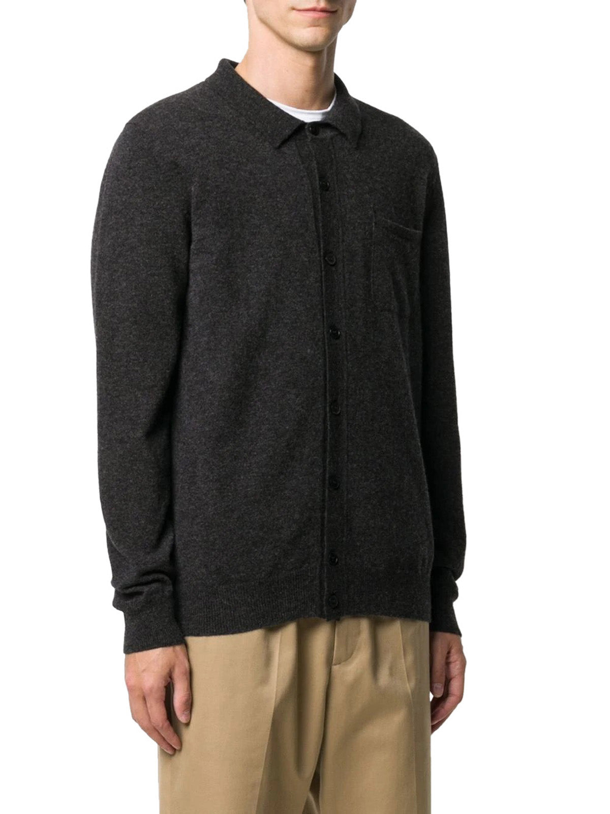 fine-knit fitted cardigan