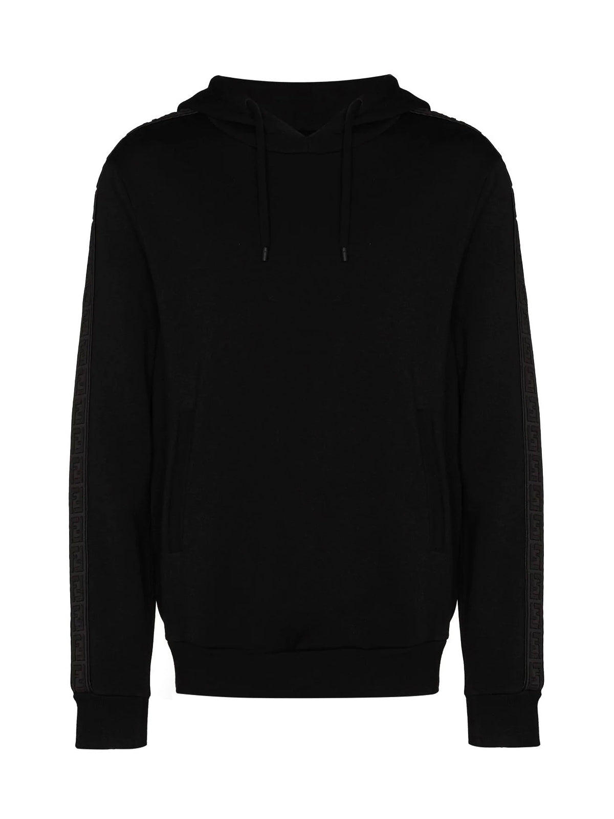 logo-tape cashmere hoodie