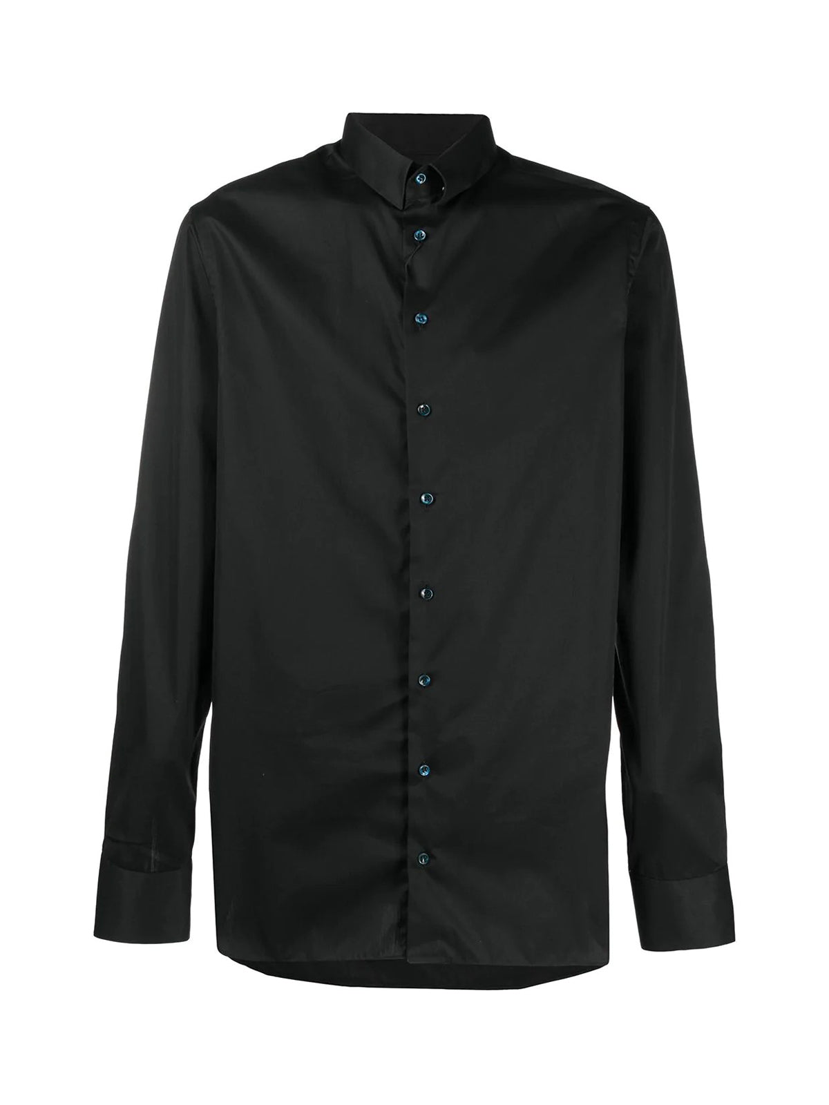 Shirt with contrasting buttons