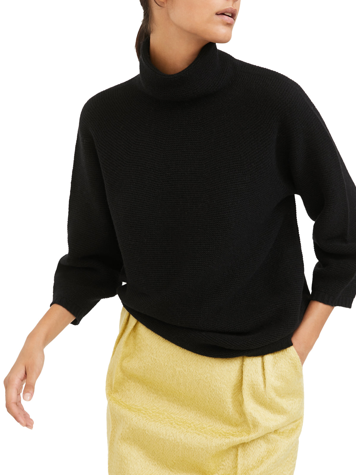 """Etrusco"" sweater with high neck"