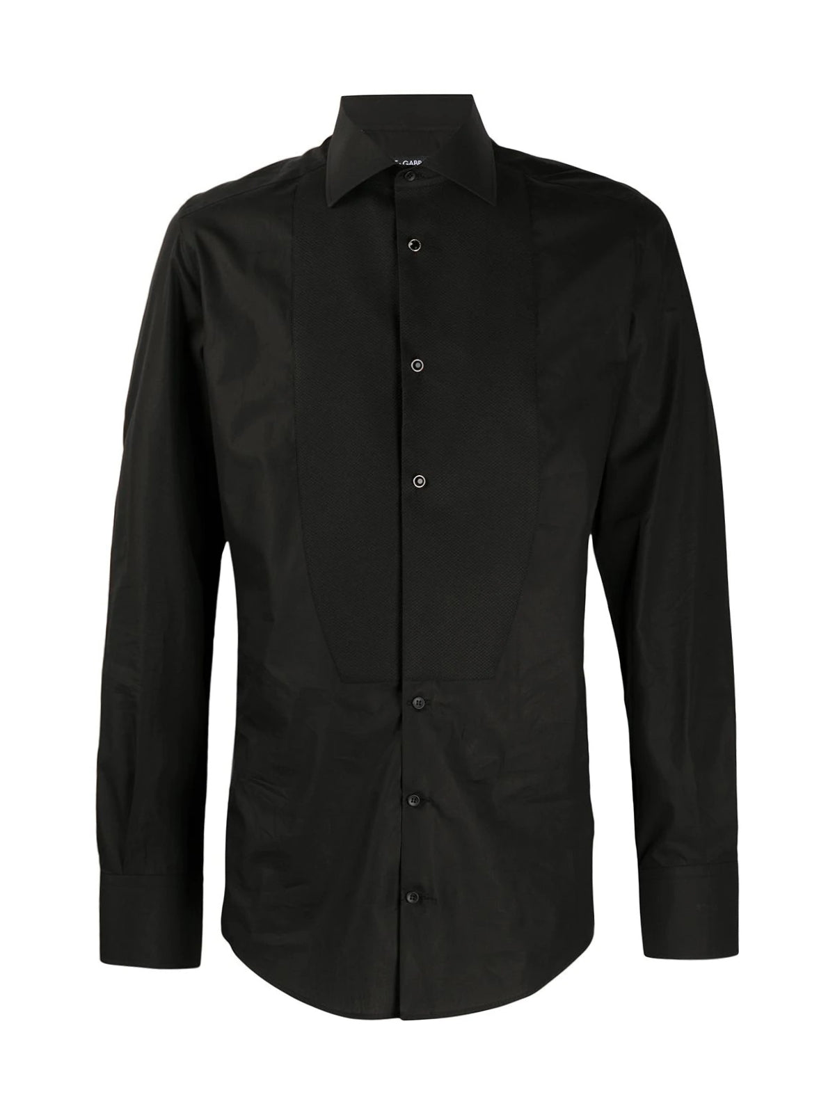 Bib-front cotton shirt