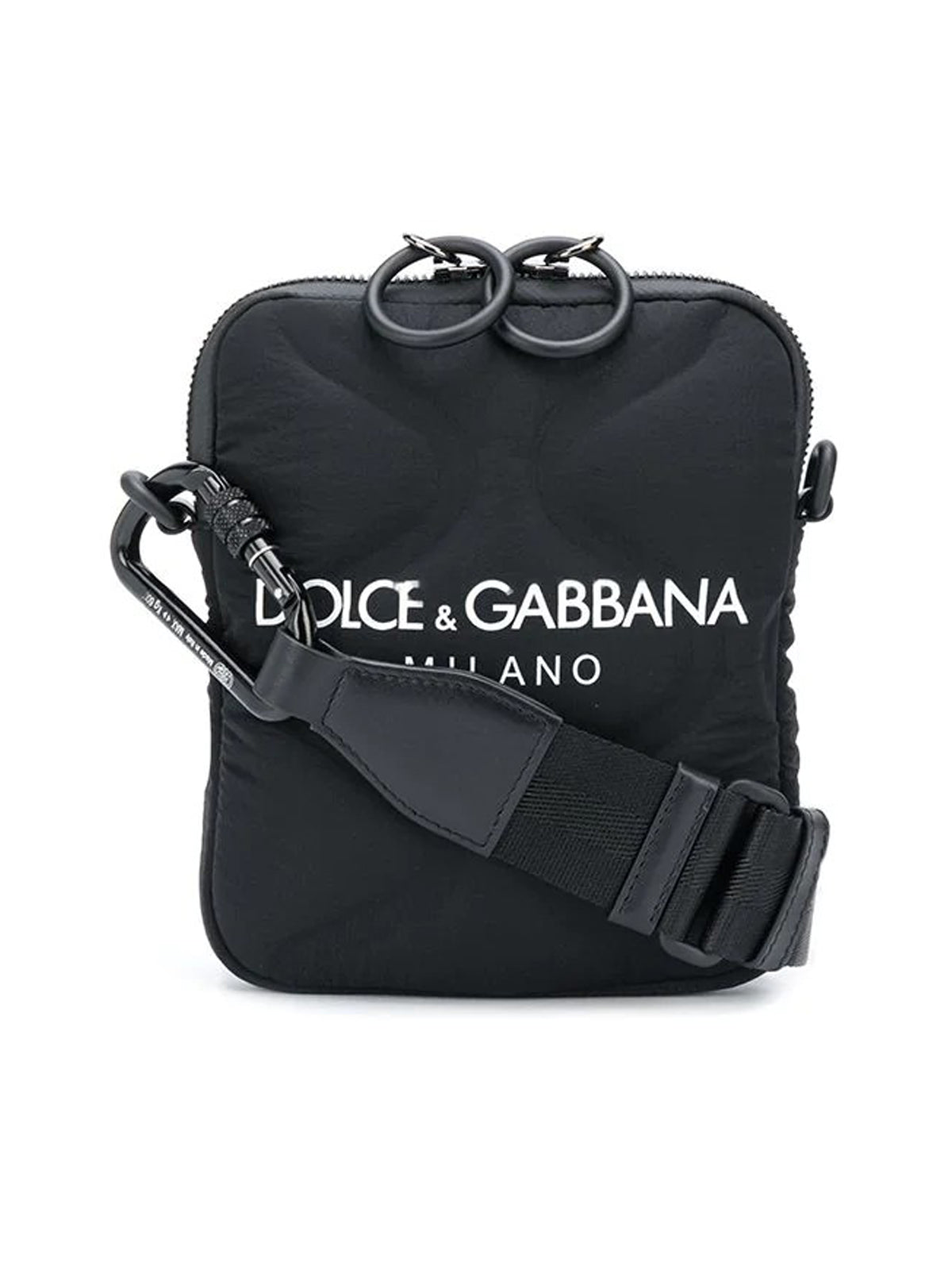 Logo-print messenger bag