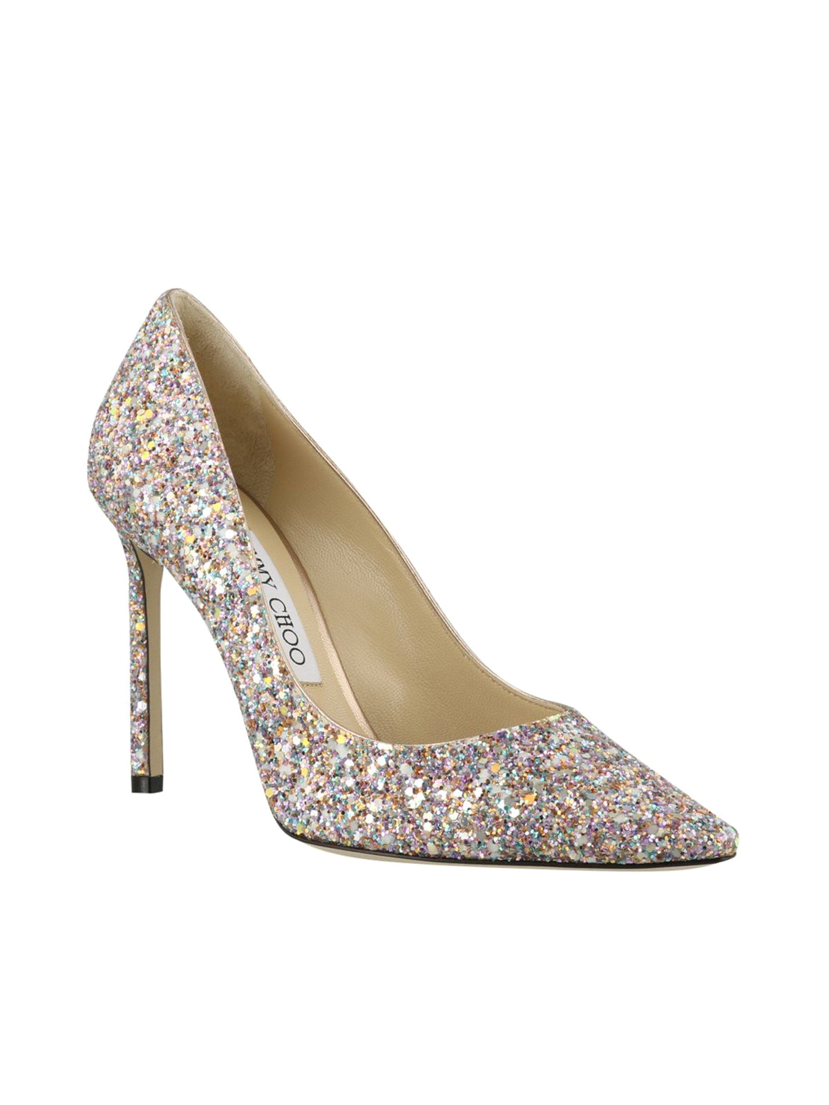Romy 100 Glitter Pointy Toe Pumps