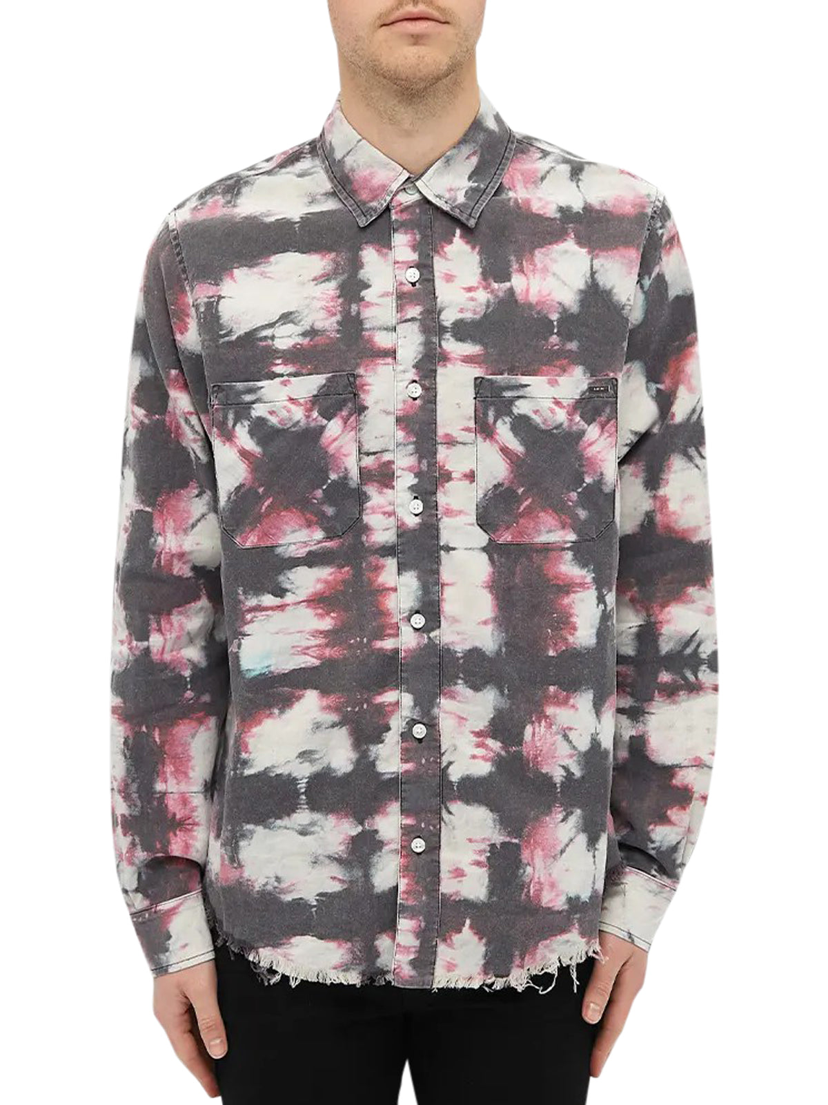 AMIRI WATERCOLOUR PLAID SHIRT
