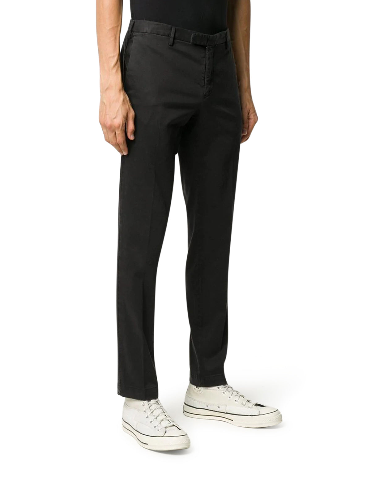 tapered-leg chino trousers