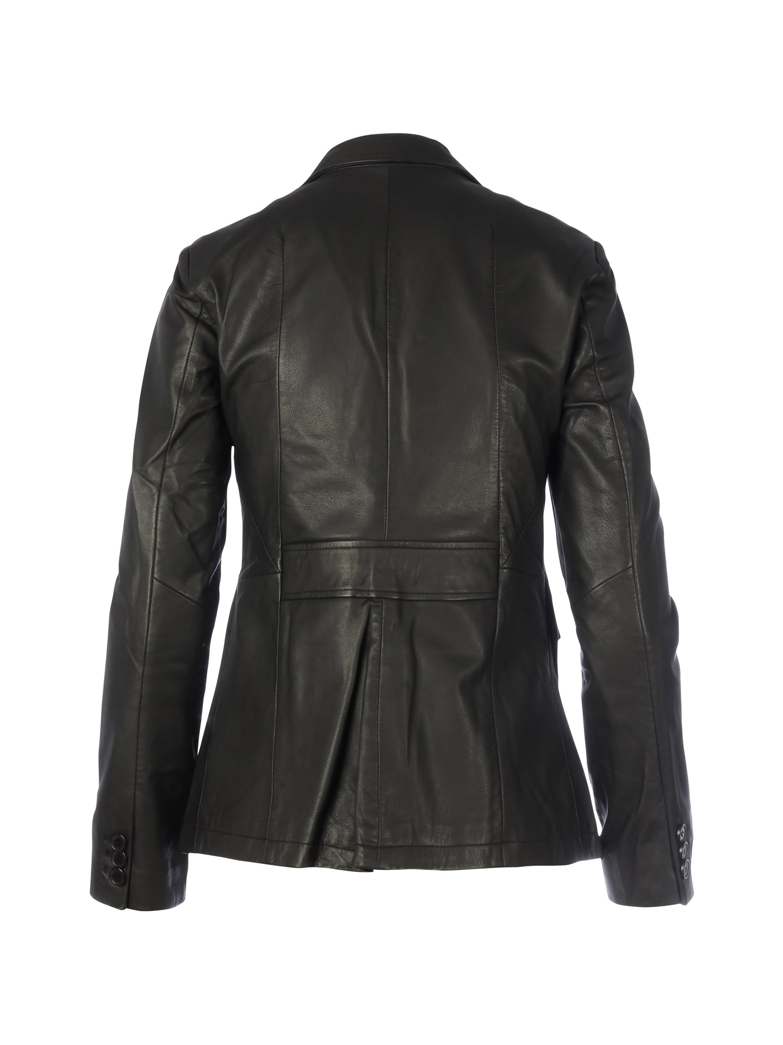 Black blazer leather