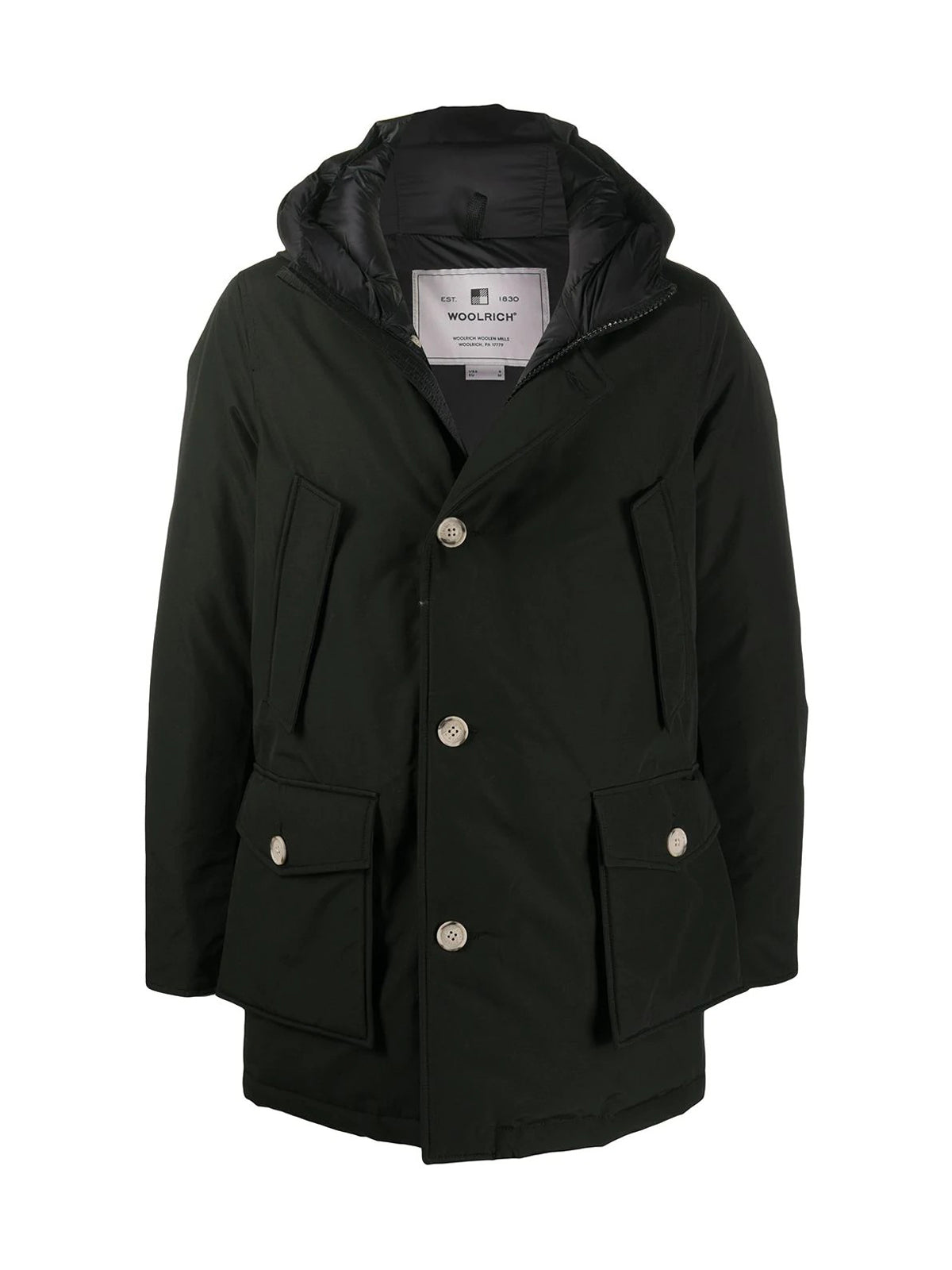 Padded coat with hoodie