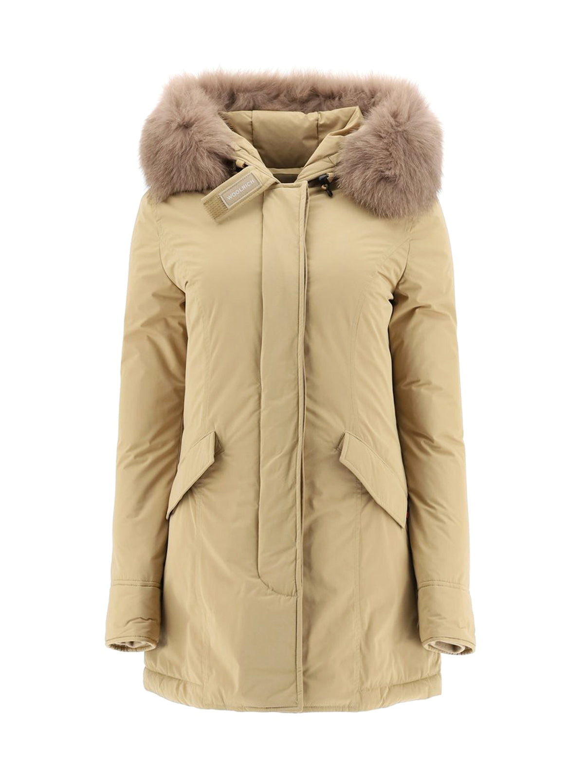 hooded parka with fur