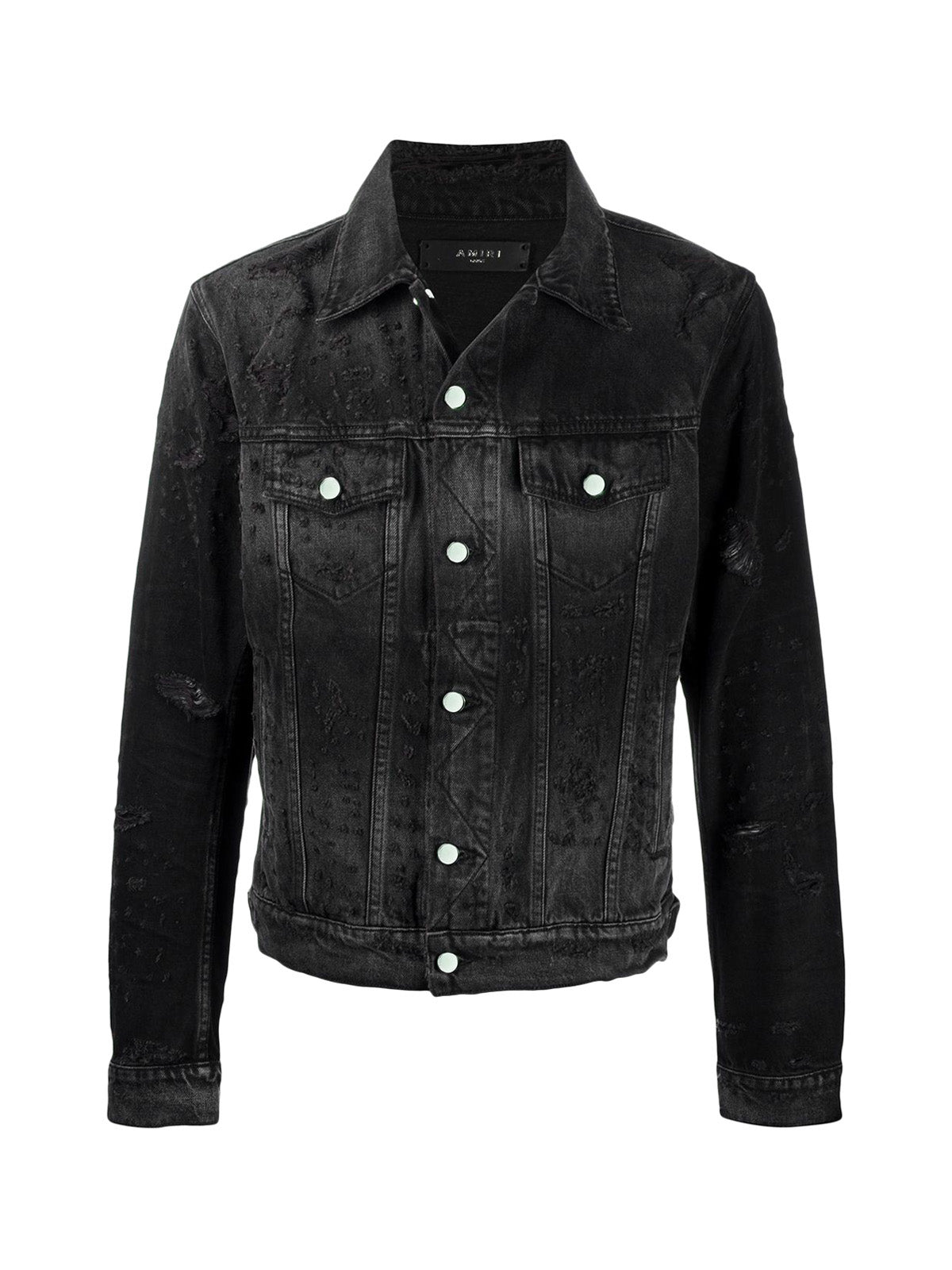 distressed effect denim jacket