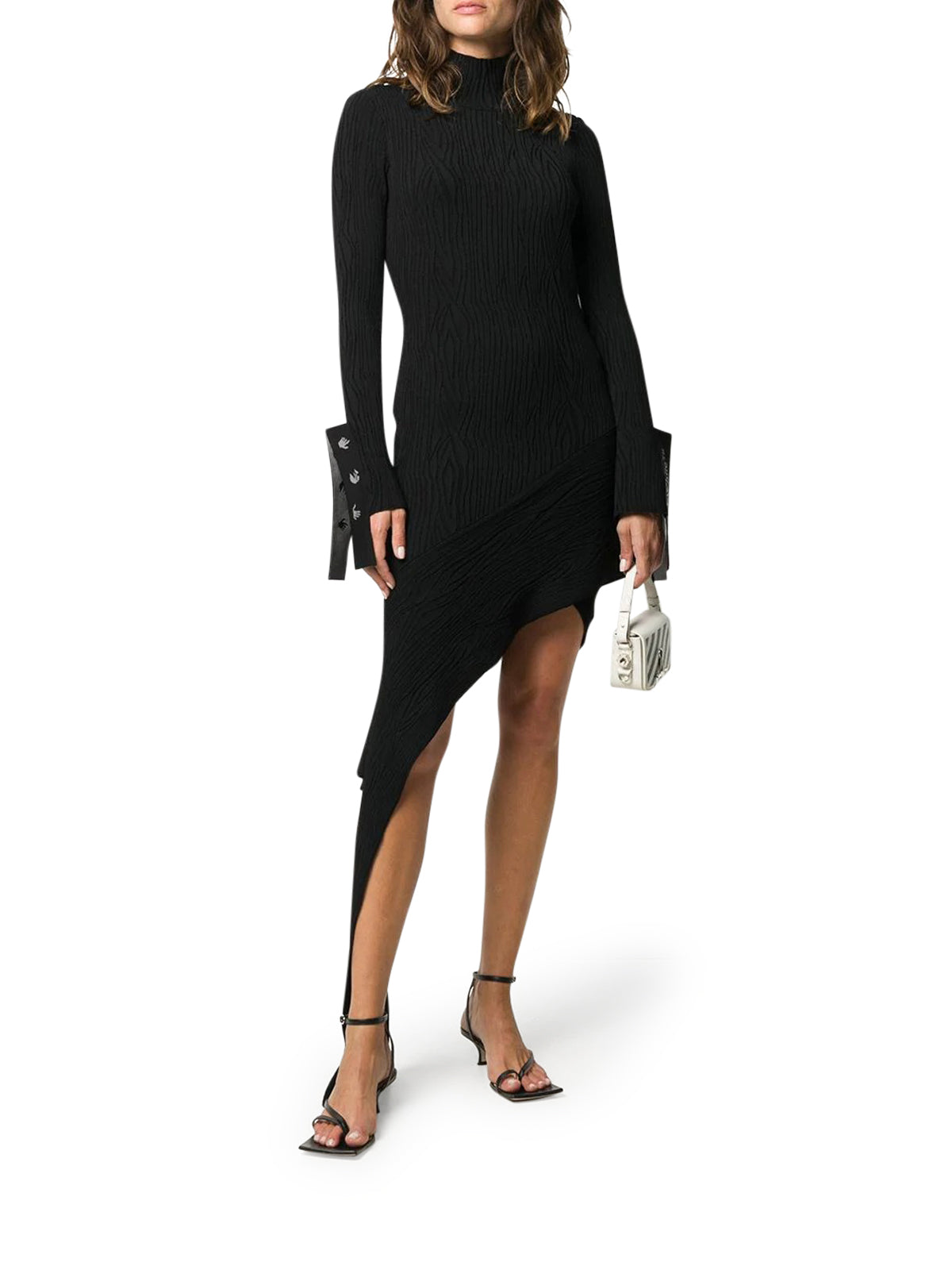 draped asymmetric knitted dress