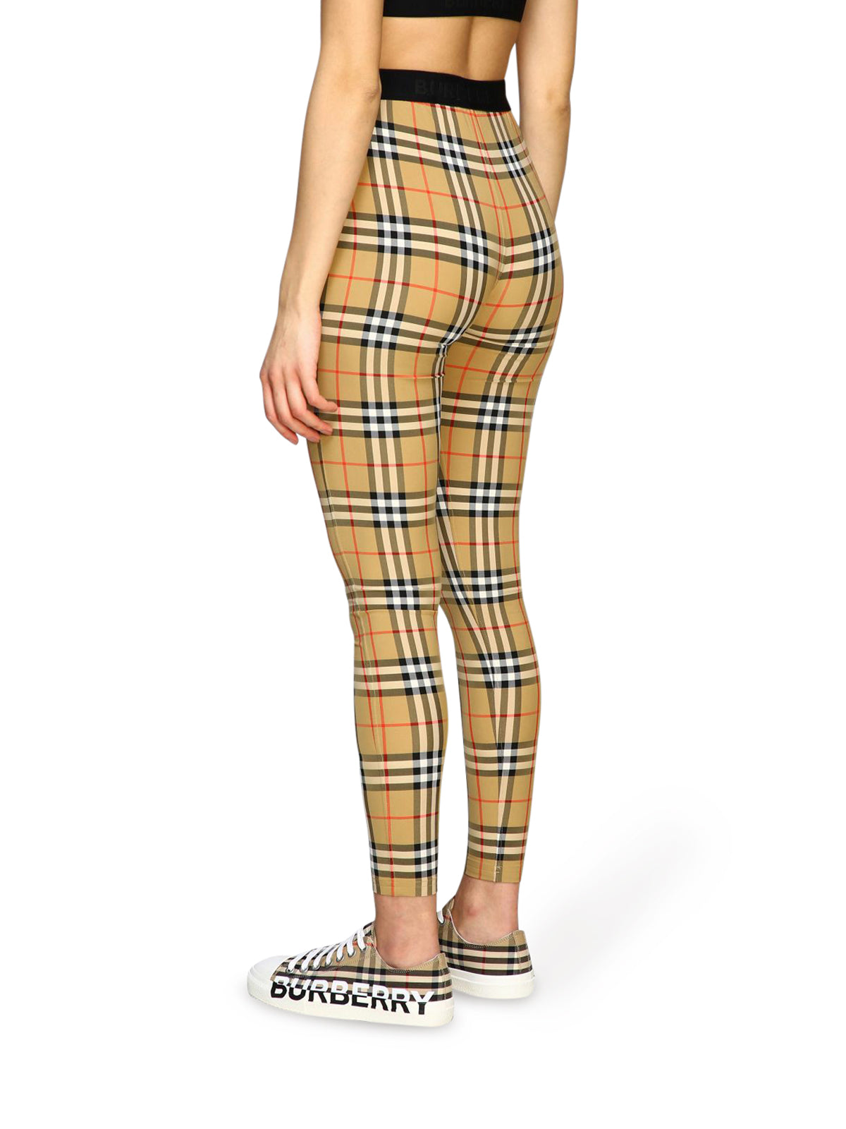 Burberry check cotton leggings
