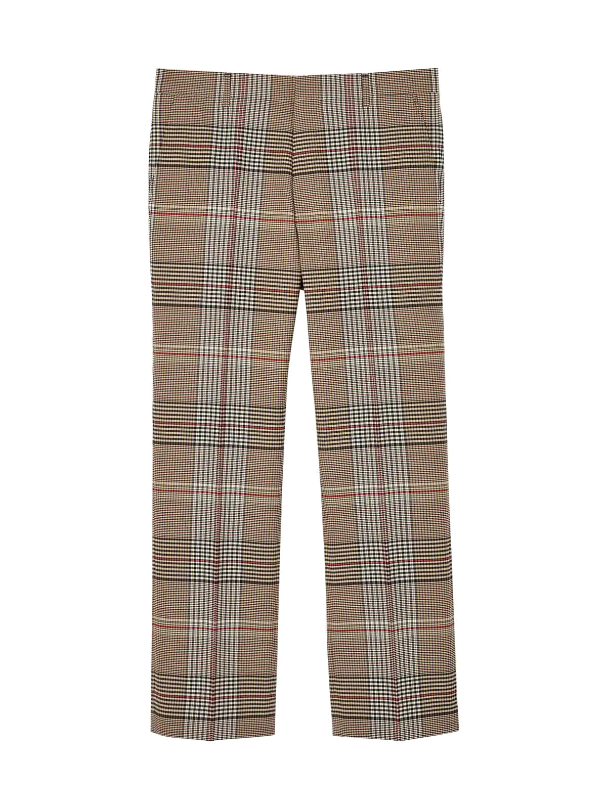check wool tailored trousers