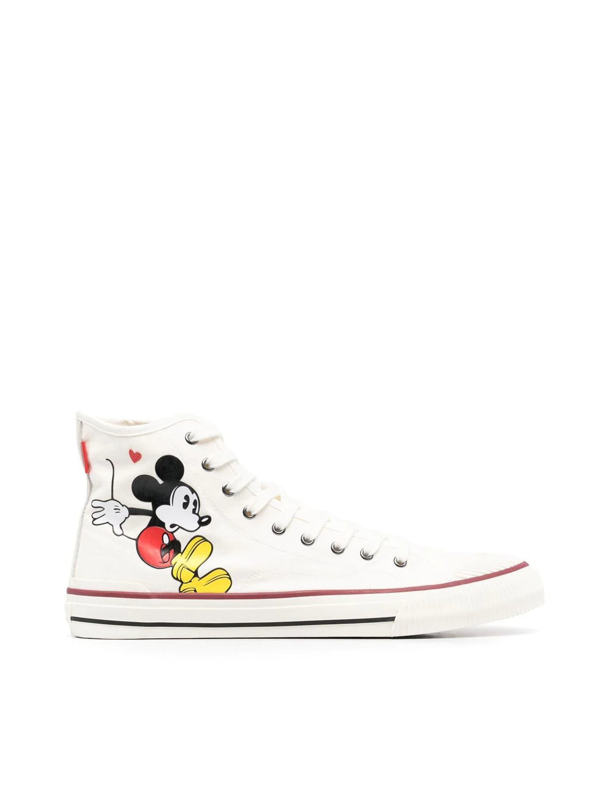 Mickey-print high-top trainers
