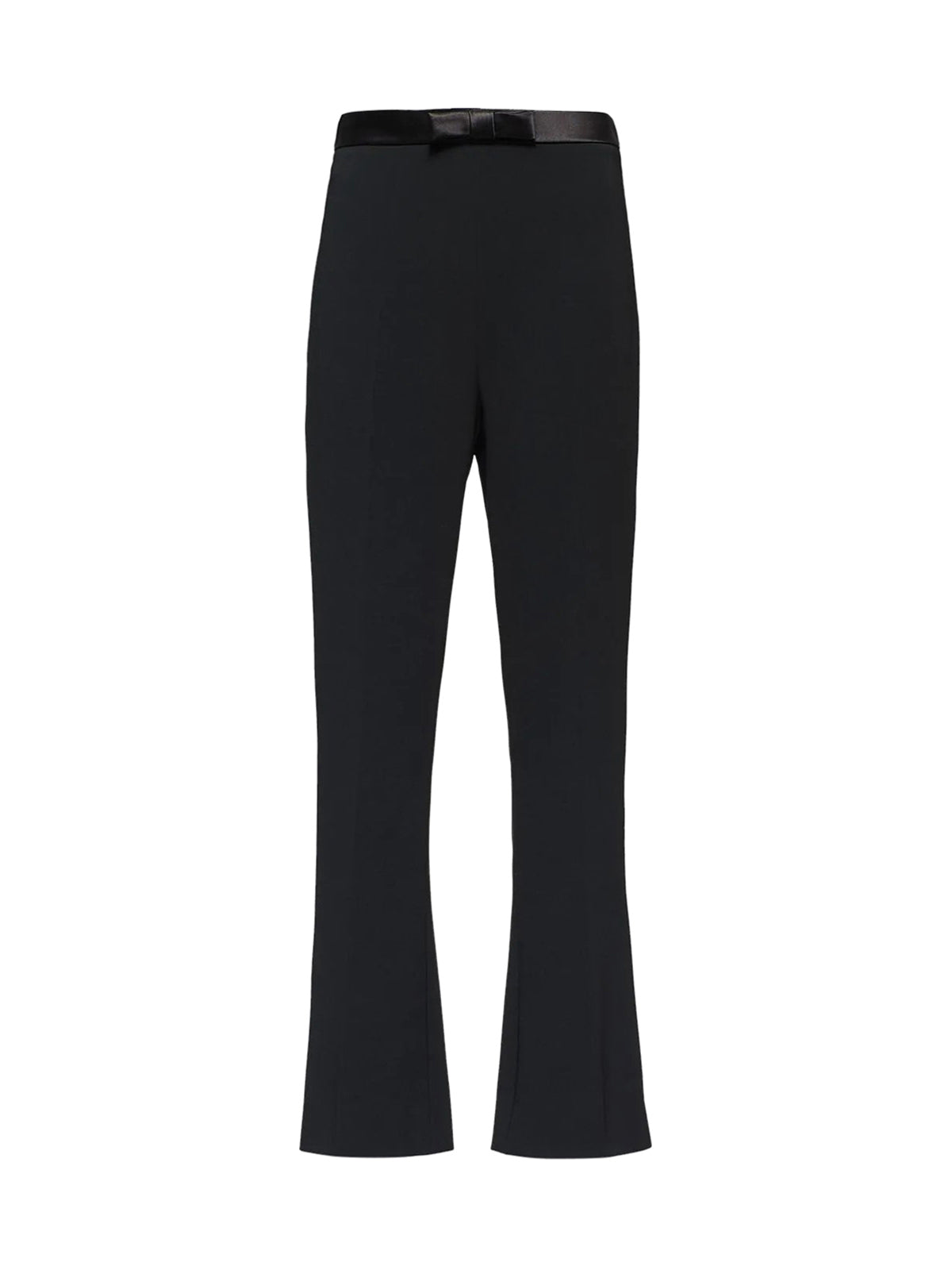 bow waistband cropped trousers