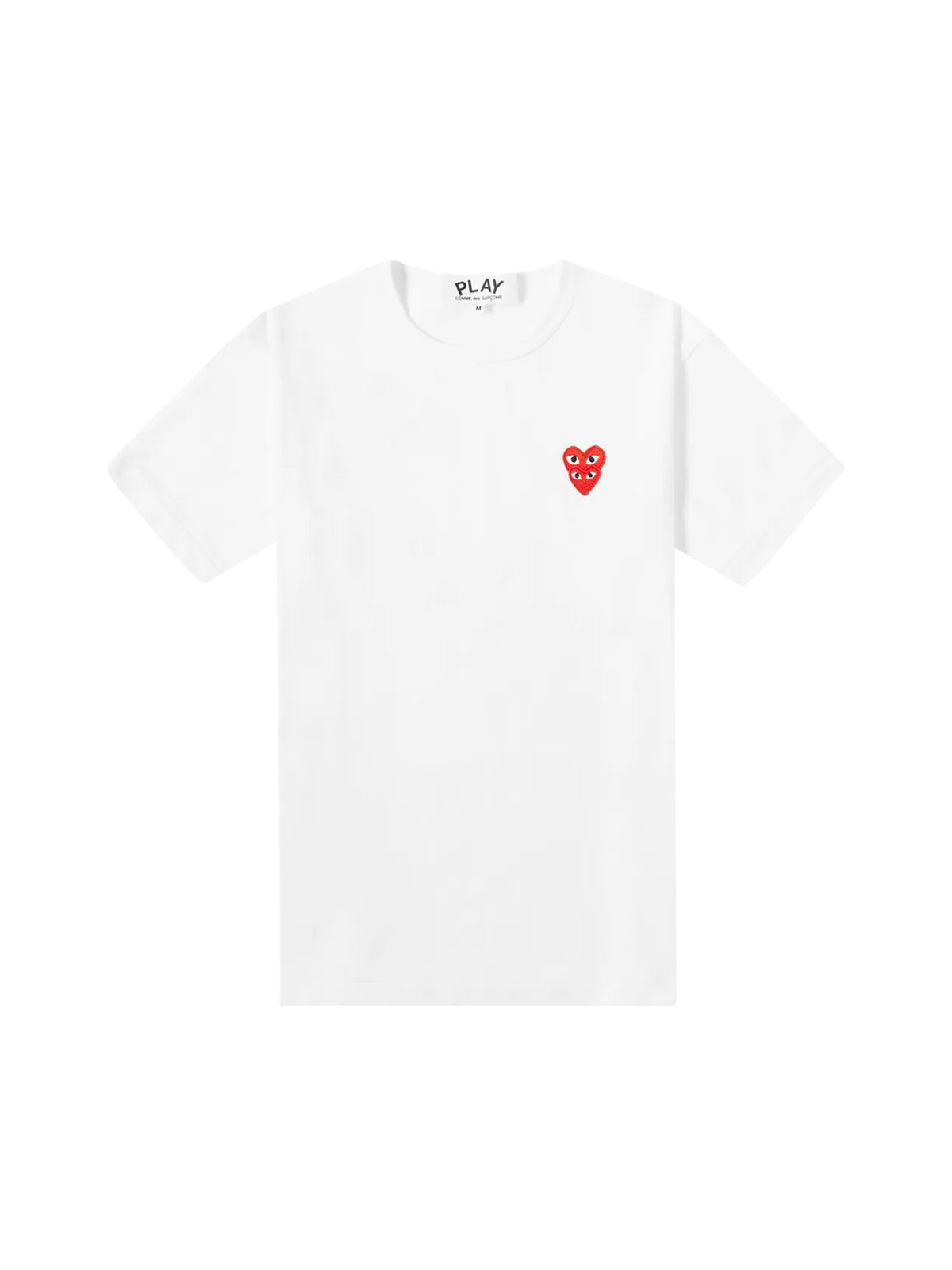 COMME DES GARCONS PLAY OVERLAPPING HEART TEE
