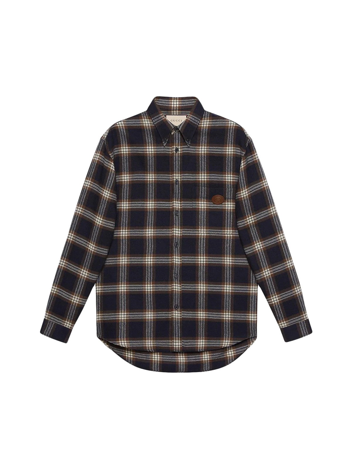 plaid buttoned shirt